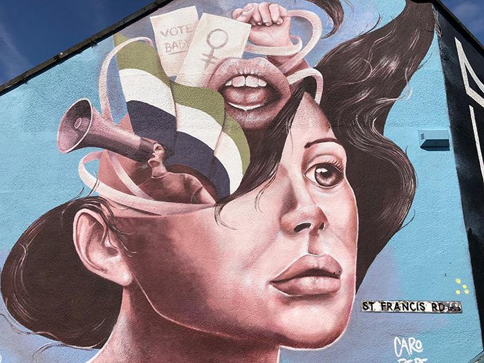 Street art on St. Francis road